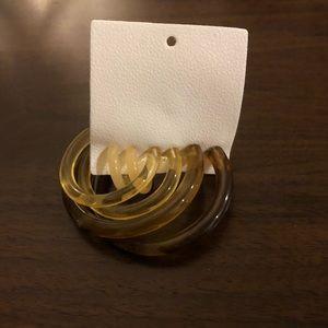 Free People Hoop Earrings Set NWT
